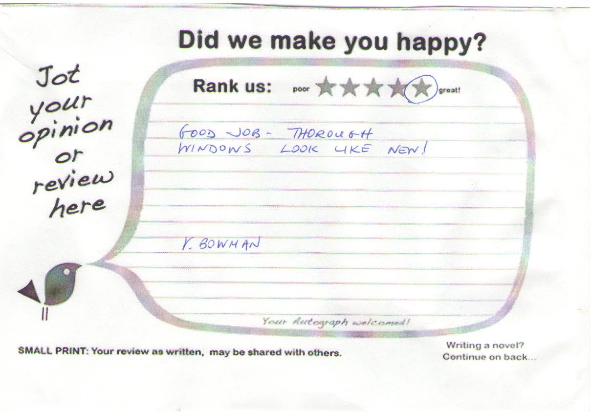 Window Cleaning Review ybowman